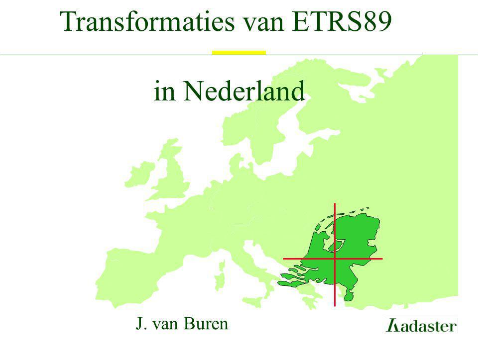 Transformaties van ETRS89