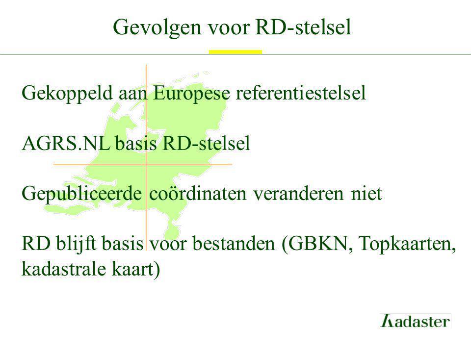 Gevolgen voor RD-stelsel