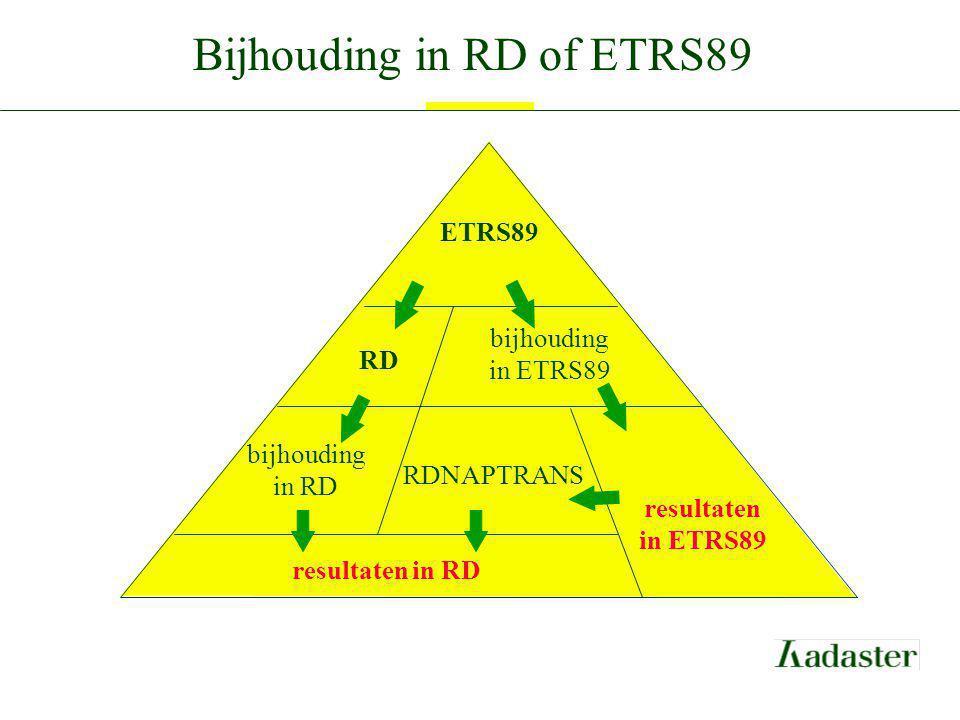 Bijhouding in RD of ETRS89