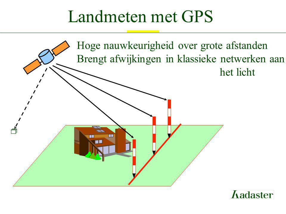 Landmeten met GPS Hoge nauwkeurigheid over grote afstanden