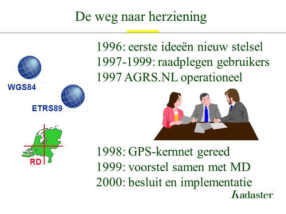 De weg naar herziening 1996: eerste ideeën nieuw stelsel