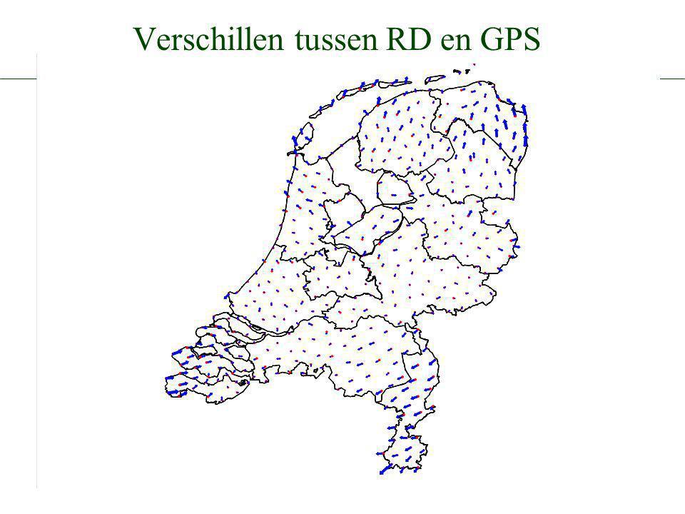 Verschillen tussen RD en GPS