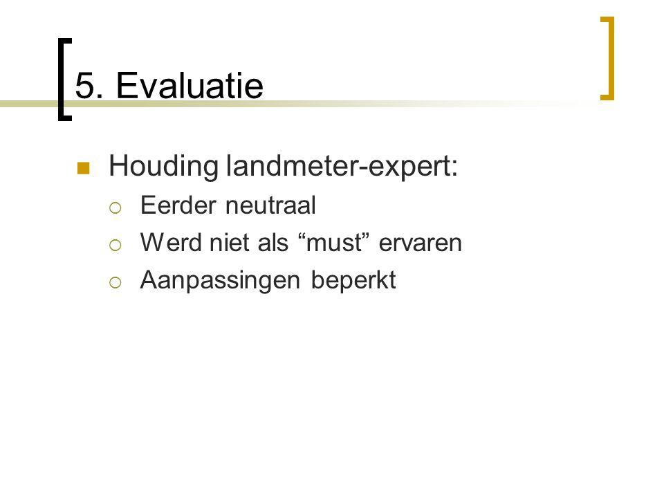5. Evaluatie Houding landmeter-expert: Eerder neutraal