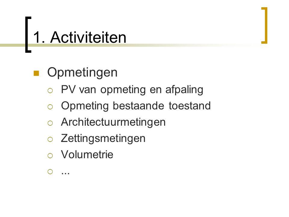 1. Activiteiten Opmetingen PV van opmeting en afpaling