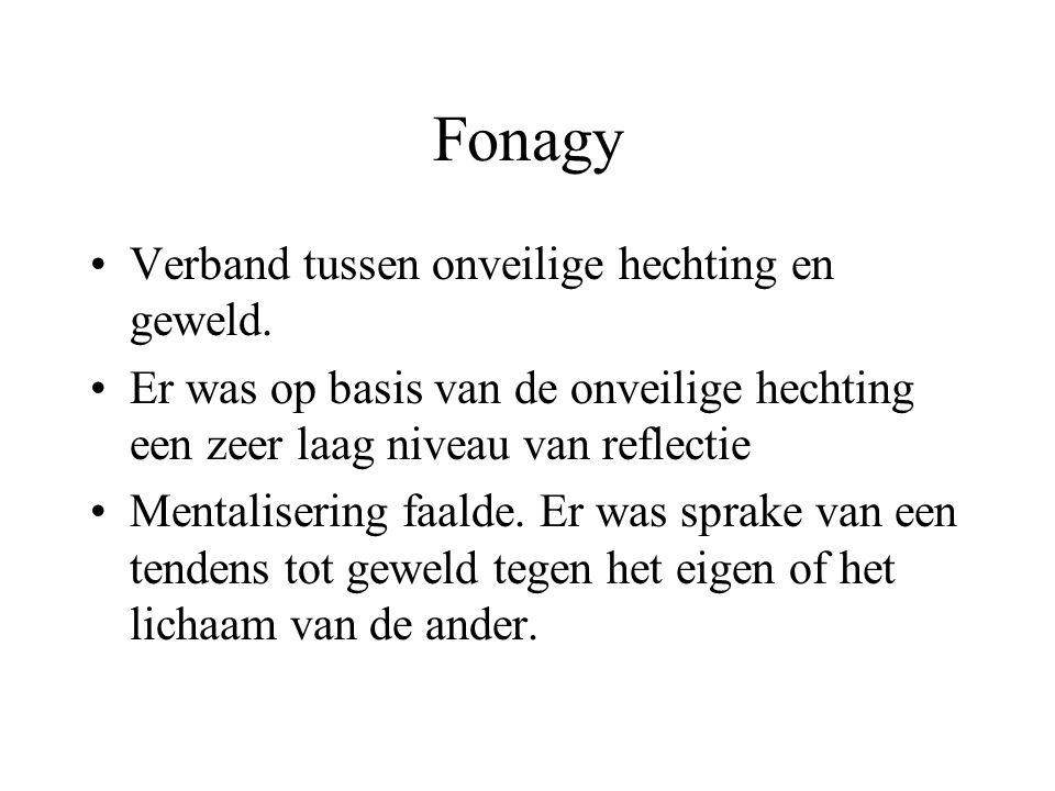 Fonagy Verband tussen onveilige hechting en geweld.