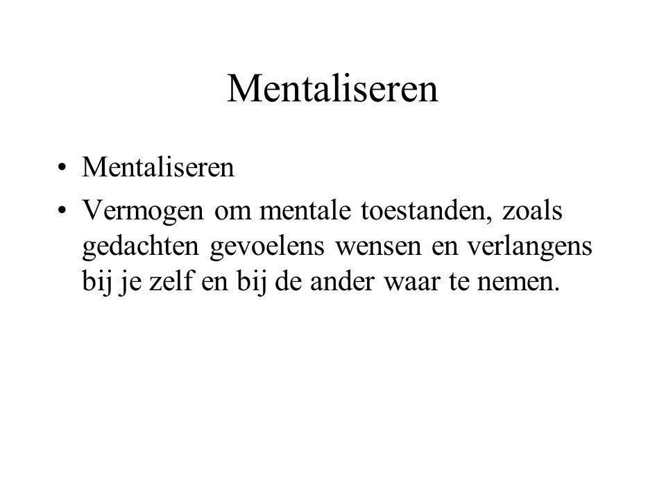 Mentaliseren Mentaliseren