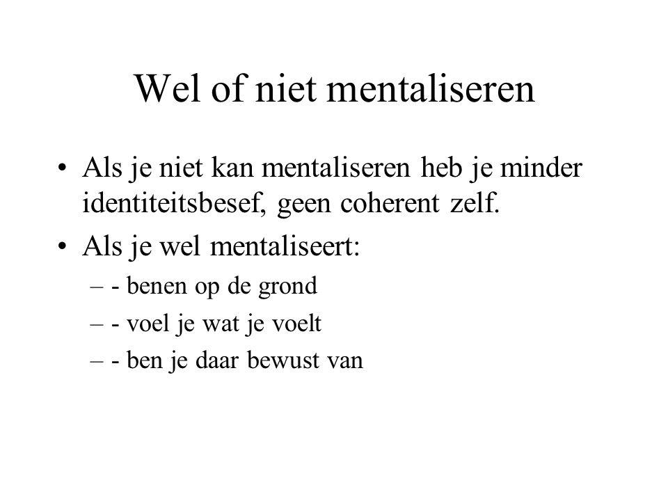 Wel of niet mentaliseren