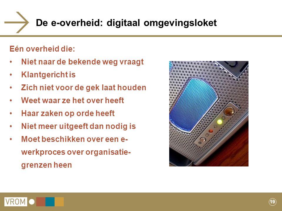 De e-overheid: digitaal omgevingsloket