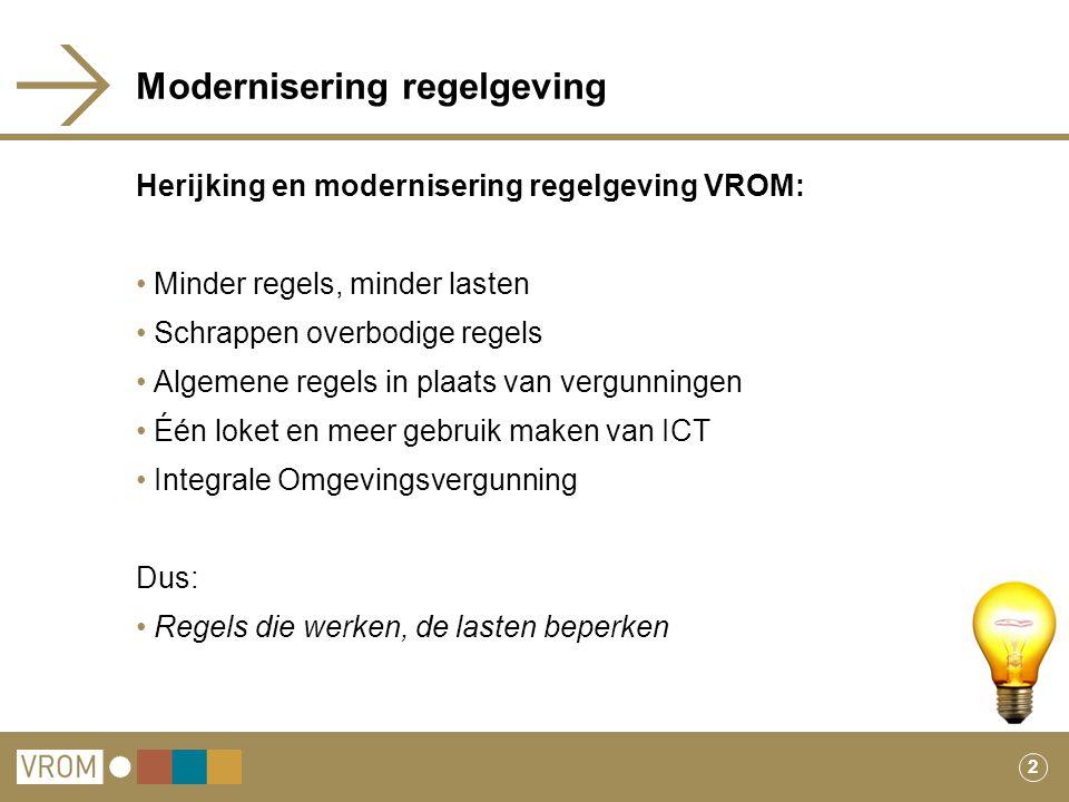 Modernisering regelgeving