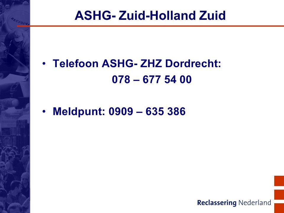ASHG- Zuid-Holland Zuid
