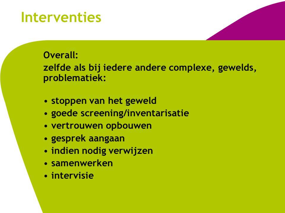 Interventies Overall: