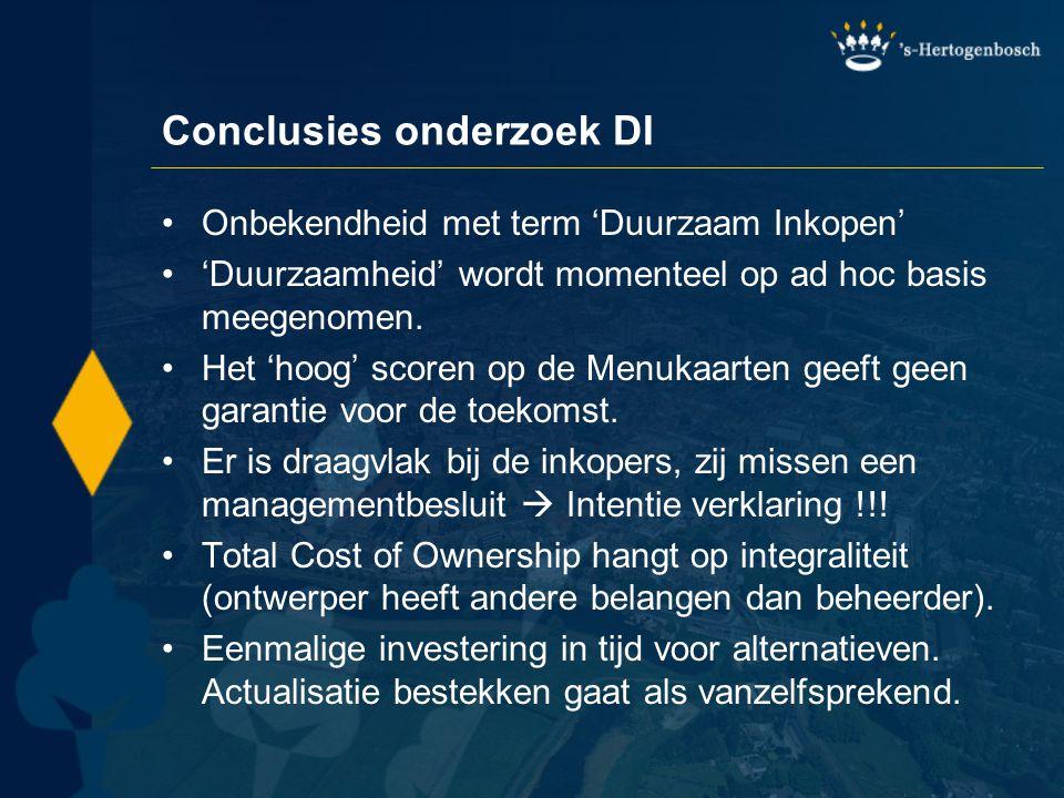 Conclusies onderzoek DI