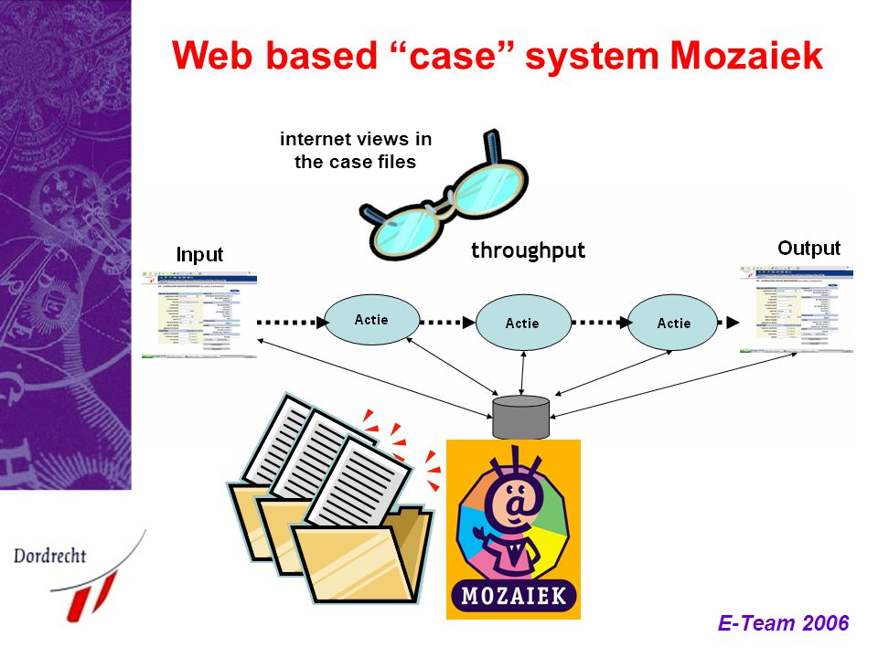 Web based case system Mozaiek