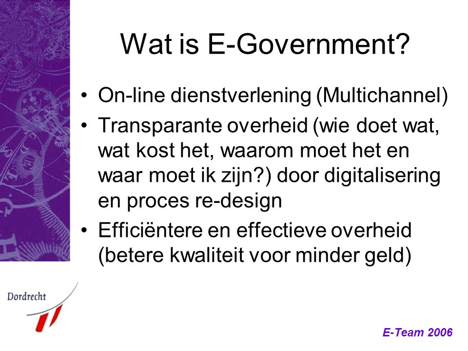 Wat is E-Government On-line dienstverlening (Multichannel)