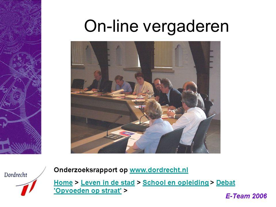 On-line vergaderen Onderzoeksrapport op www.dordrecht.nl