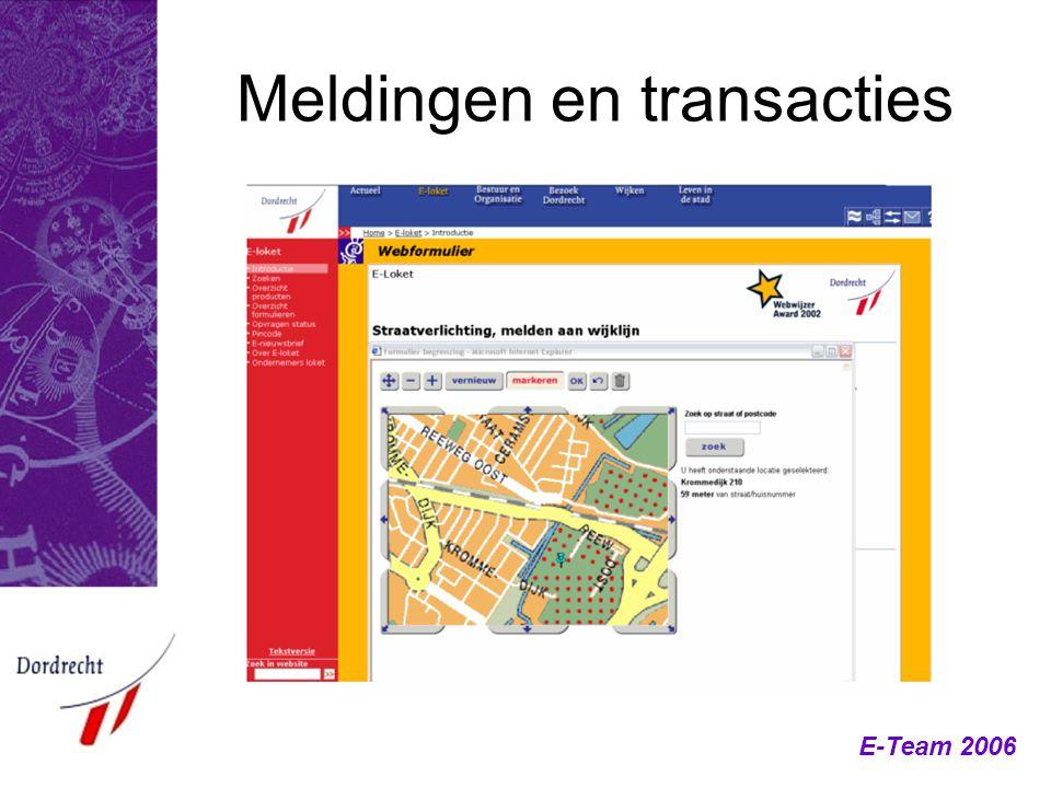 Meldingen en transacties