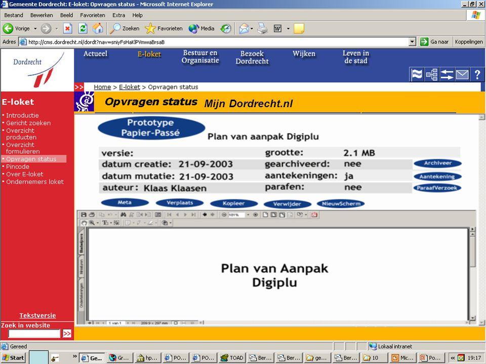 Mijn Dordrecht.nl Mijn Dossiers Klik hier