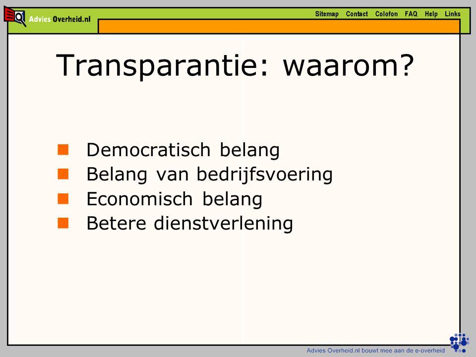Transparantie: waarom