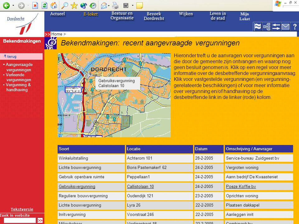 E-Government-programma: V&H Deelproject 1