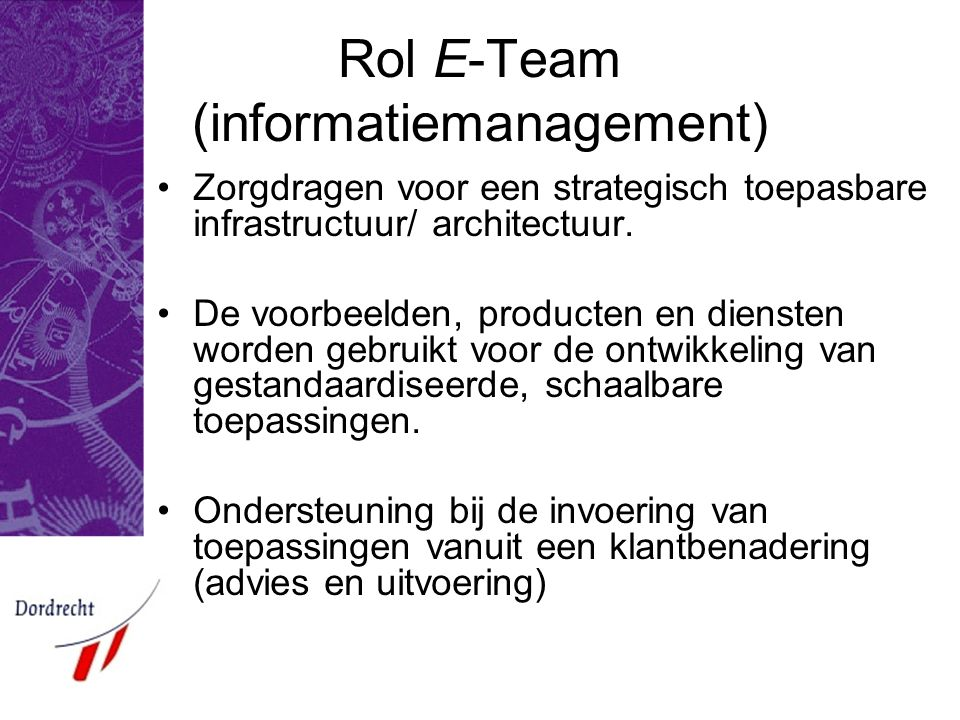 Rol E-Team (informatiemanagement)