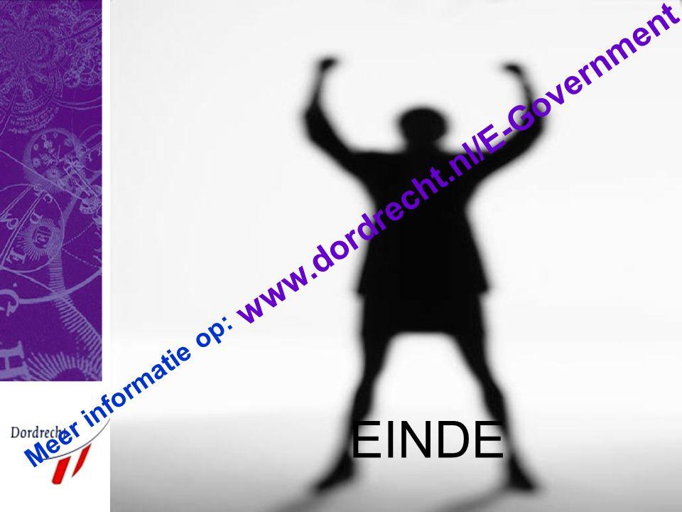 Meer informatie op: www.dordrecht.nl/E-Government