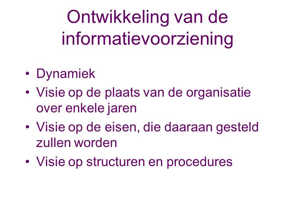 Ontwikkeling van de informatievoorziening