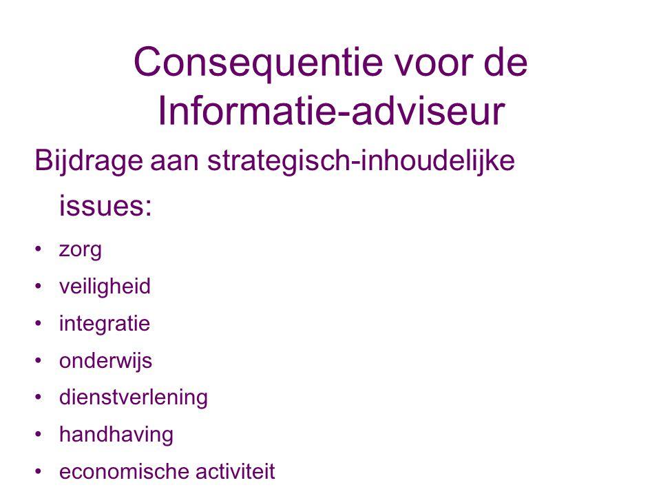 Consequentie voor de Informatie-adviseur