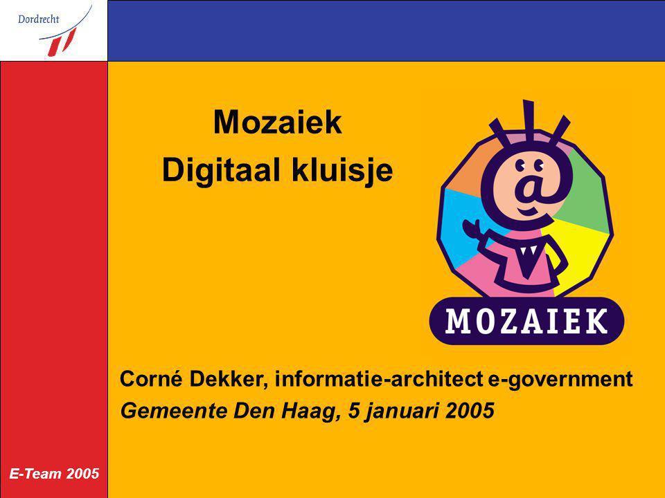 Mozaiek Digitaal kluisje