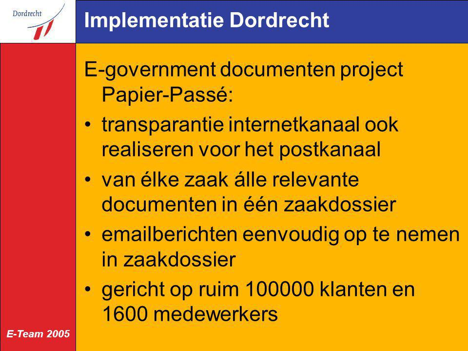 Implementatie Dordrecht