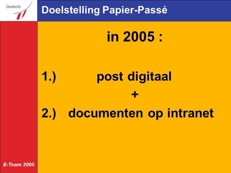 Doelstelling Papier-Passé