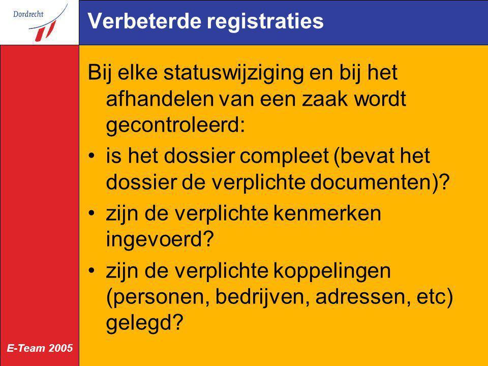 Verbeterde registraties