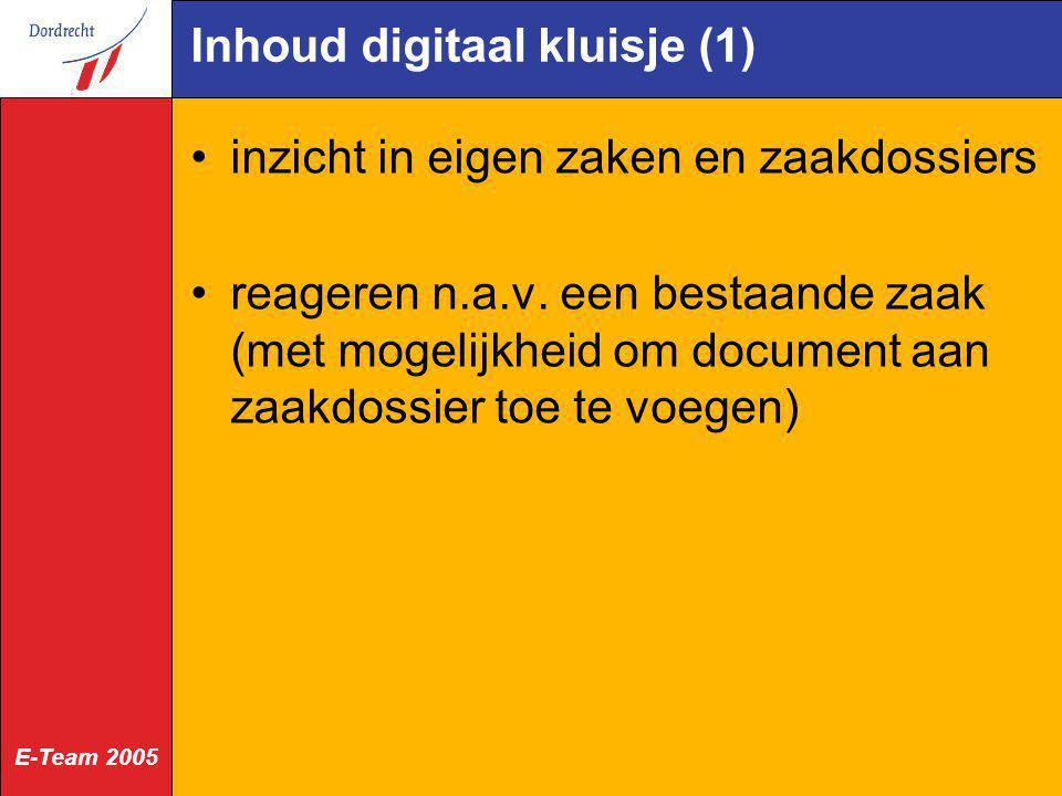 Inhoud digitaal kluisje (1)