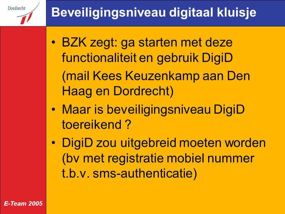 Beveiligingsniveau digitaal kluisje