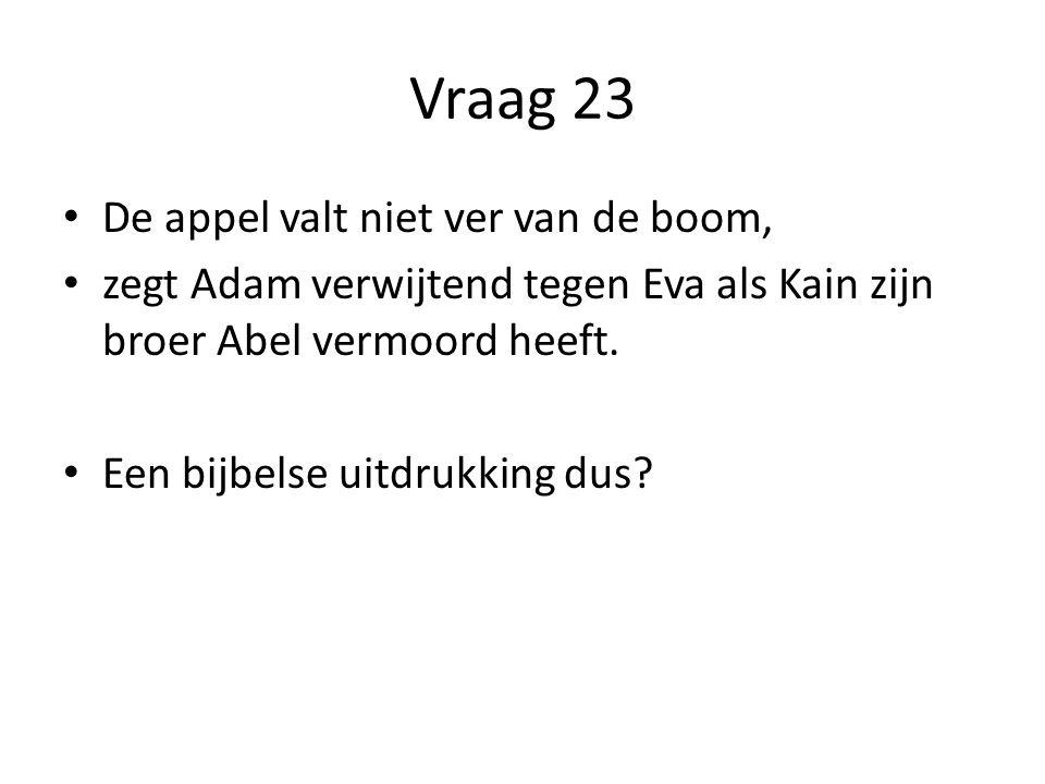 Vraag 23 De appel valt niet ver van de boom,