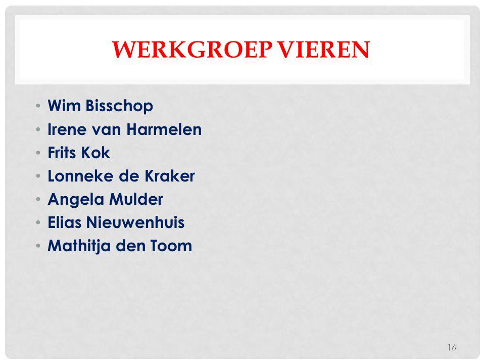 Werkgroep Vieren Wim Bisschop Irene van Harmelen Frits Kok