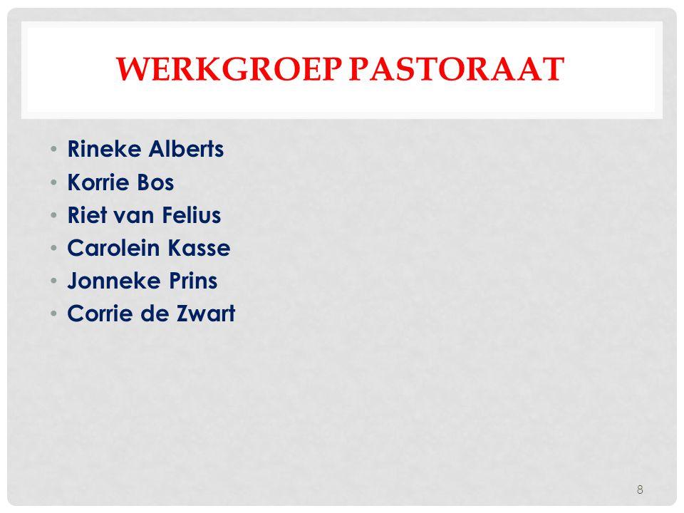 Werkgroep pastoraat Rineke Alberts Korrie Bos Riet van Felius