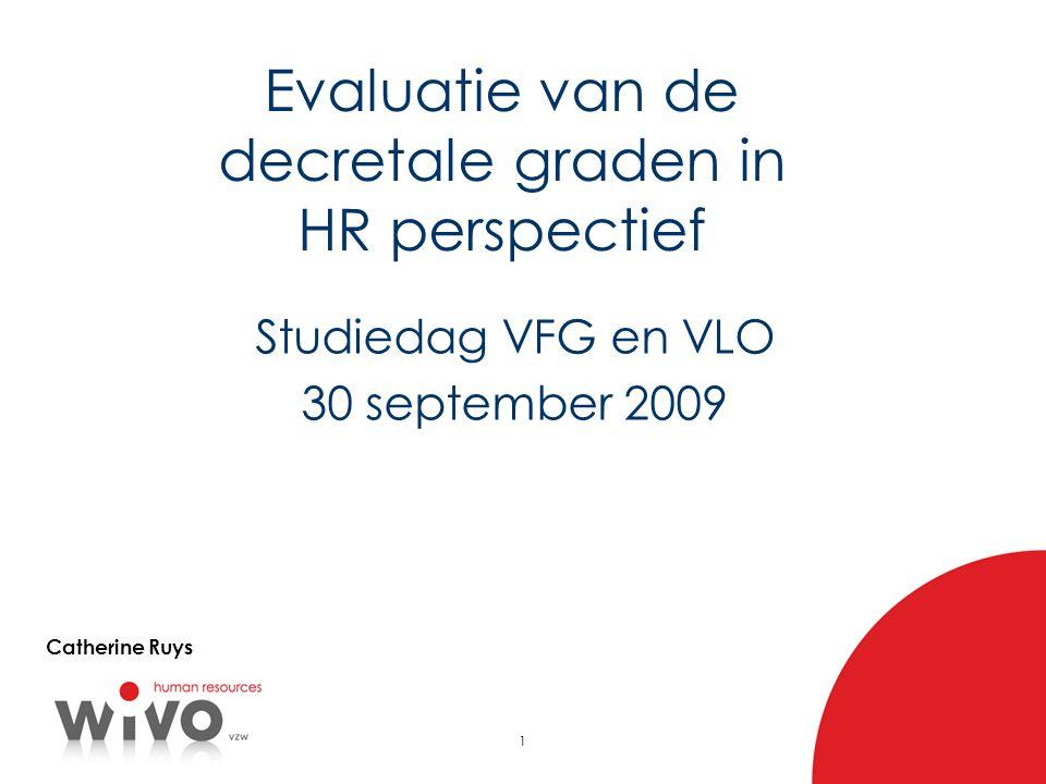 Evaluatie van de decretale graden in HR perspectief