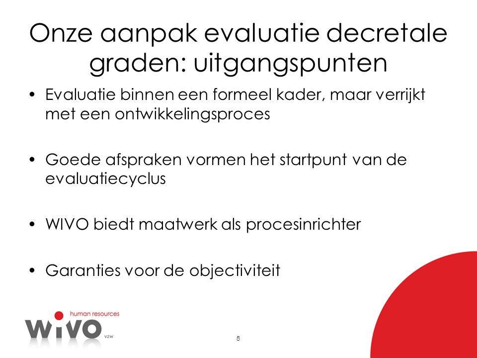 Onze aanpak evaluatie decretale graden: uitgangspunten