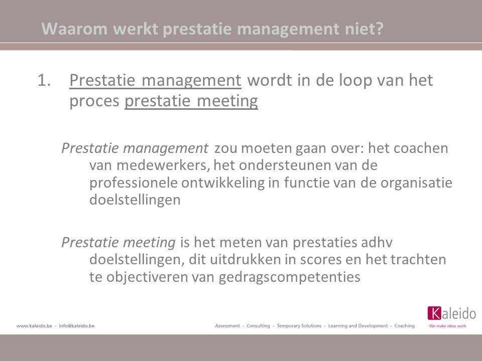 Waarom werkt prestatie management niet