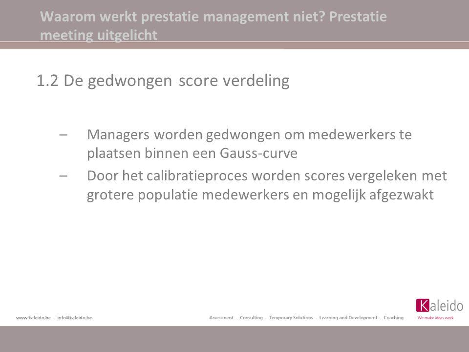 Waarom werkt prestatie management niet Prestatie meeting uitgelicht