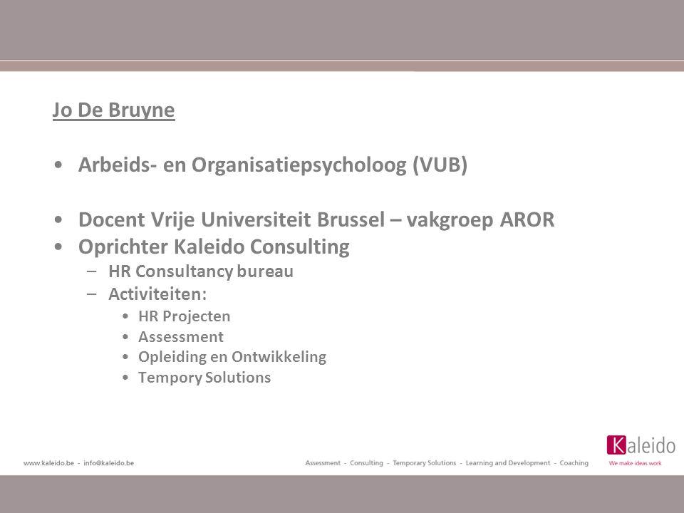 Arbeids- en Organisatiepsycholoog (VUB)
