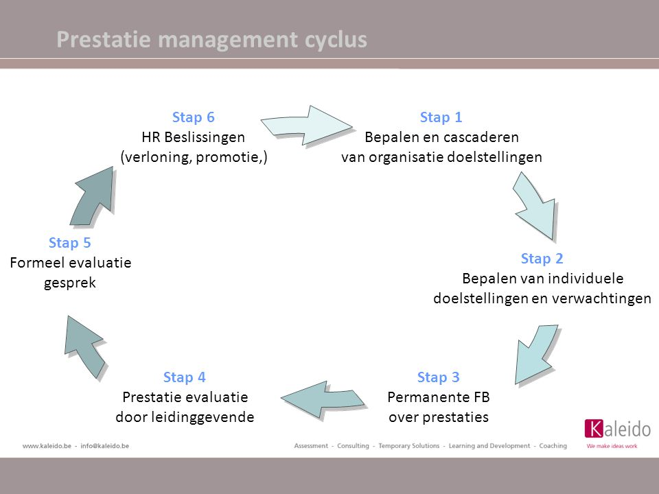 Prestatie management cyclus