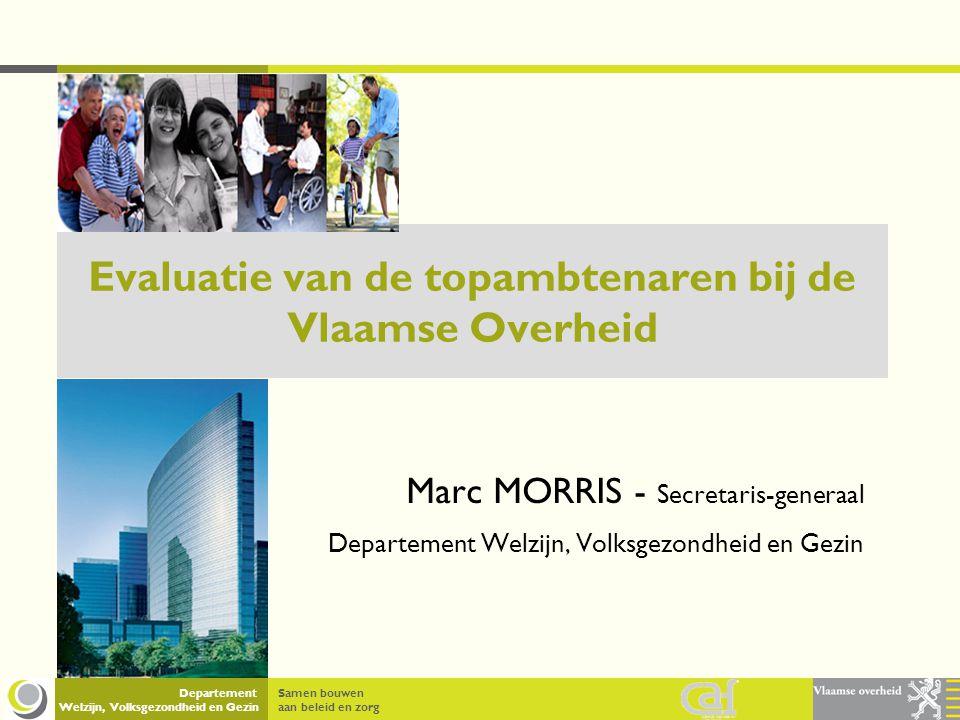 Evaluatie van de topambtenaren bij de Vlaamse Overheid