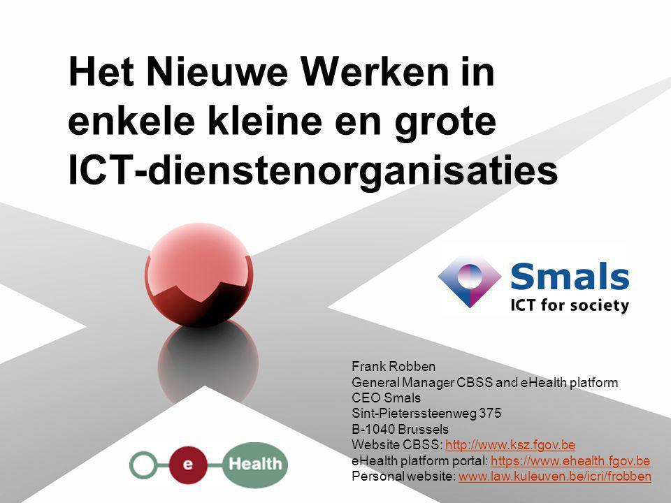 Het Nieuwe Werken in enkele kleine en grote ICT-dienstenorganisaties