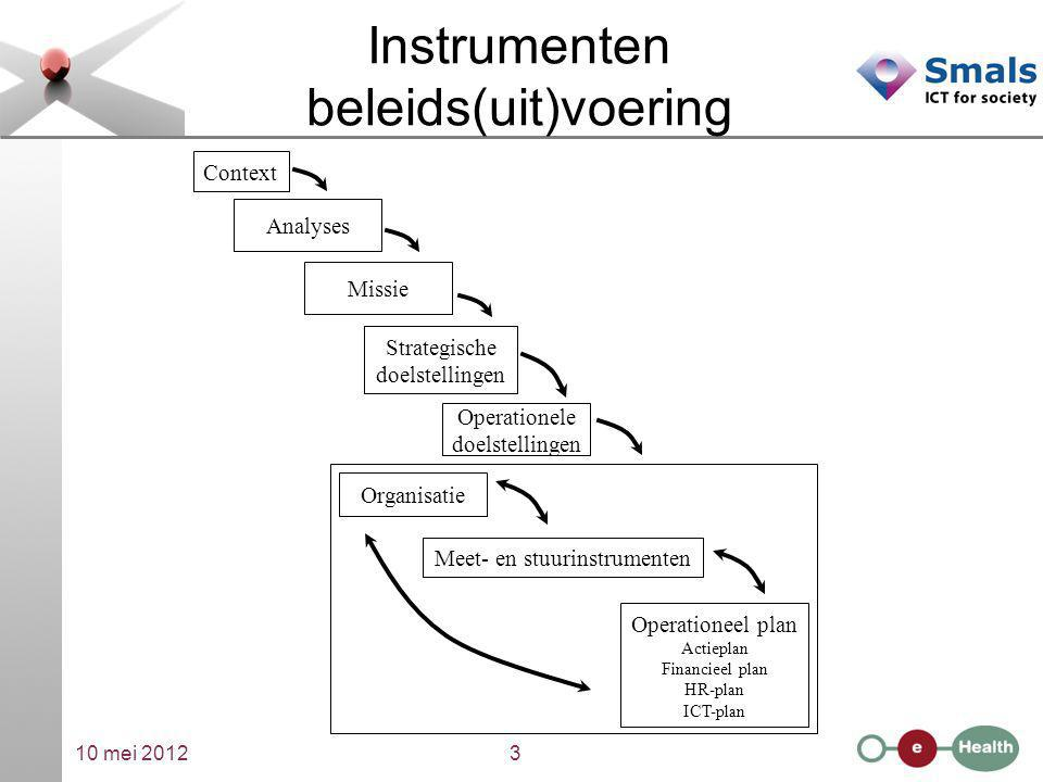 Instrumenten beleids(uit)voering