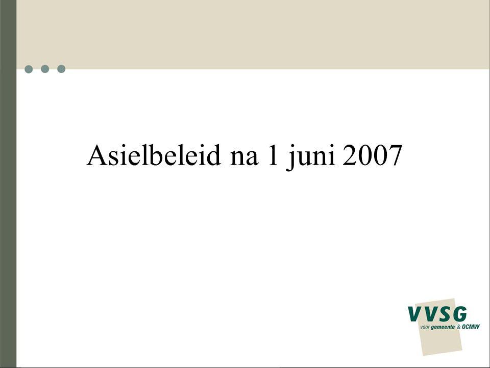 Asielbeleid na 1 juni 2007