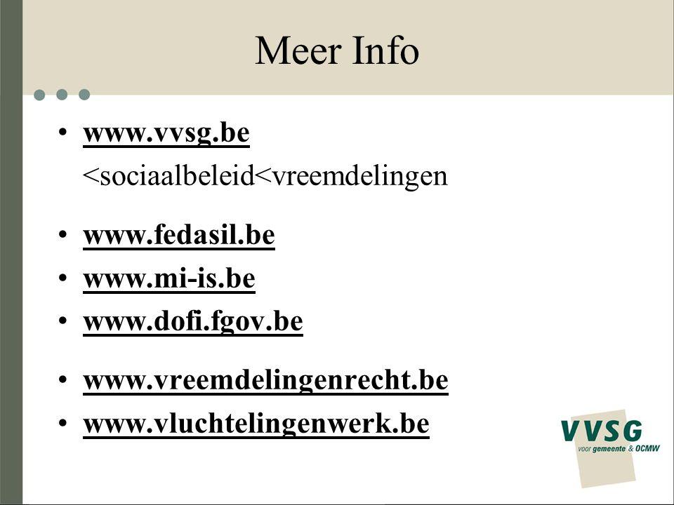Meer Info www.vvsg.be <sociaalbeleid<vreemdelingen