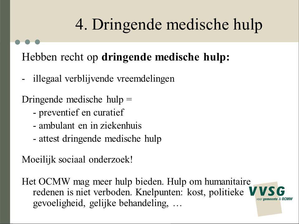 4. Dringende medische hulp