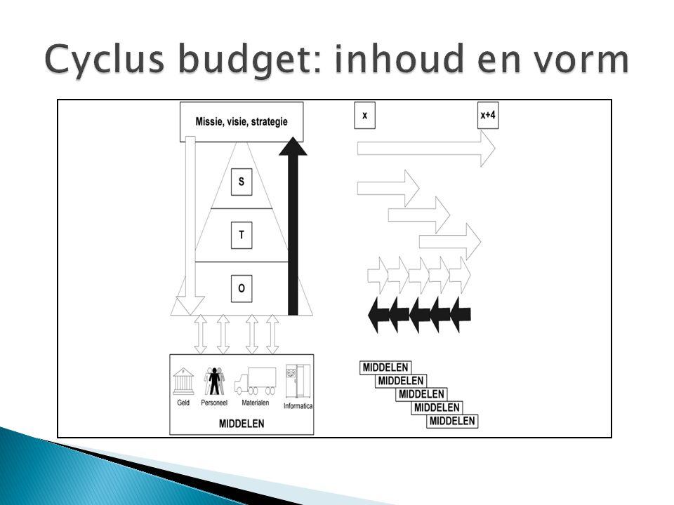 Cyclus budget: inhoud en vorm