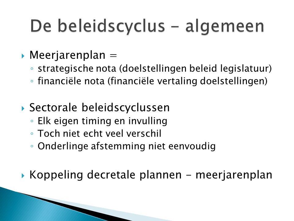 De beleidscyclus - algemeen